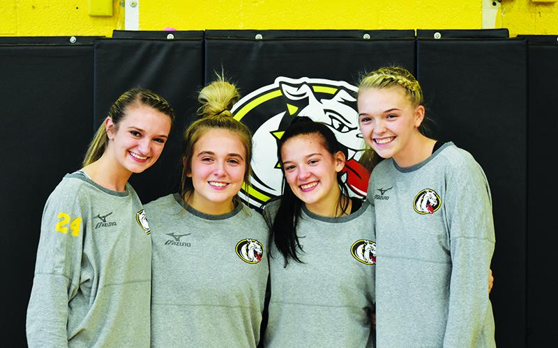 Murphy volleyball seniors (from left) Madison Worley, Allison Wells, Trinity Garrett and Hailey Bowman helped Murphy claim a share of its third-straight SMC title this season.