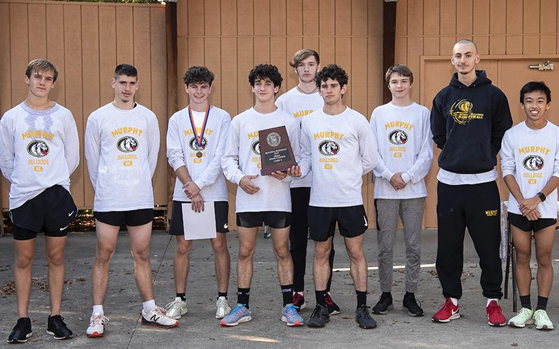 Murphy's boys cross country team finished second at the 1A west regional. Photo by Byron Housley