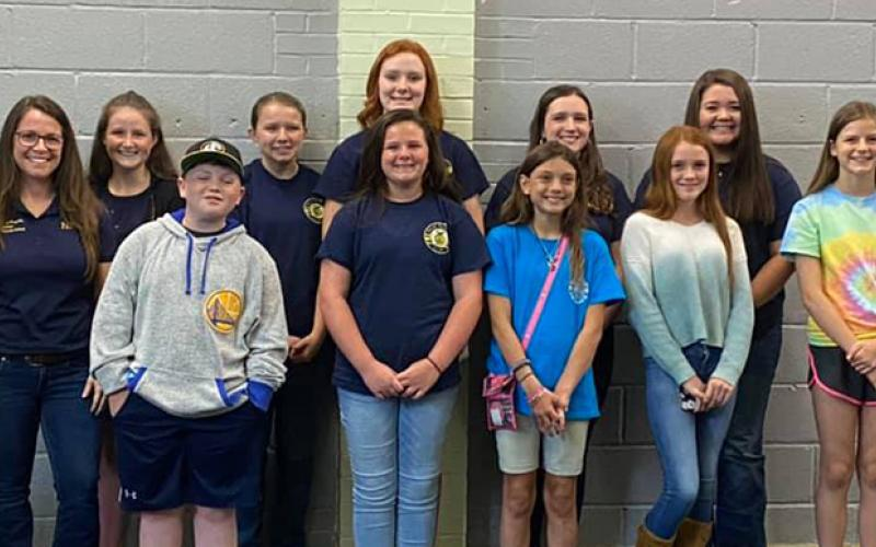 Murphy Middle School's FFA chapter met at Downtown Pizza last week to watch award presentations during the state's Virtual Celebration.