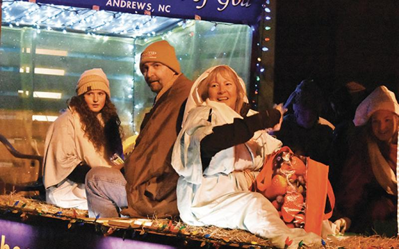 This is just one of many scenes from the 2019 Magic on Main Christmas Parade in downtown Andrews.