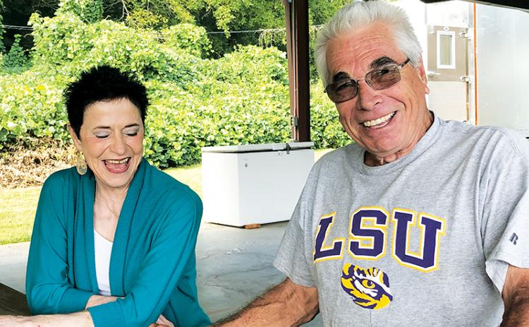Trudy (left) and Rene Madere talk about the upcoming Cajun Fest. Photo by Penny Ray