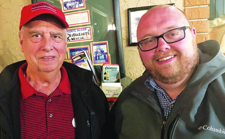 Incumbent Mike Sheidy and newcomer Jonathan Ellison were each elected to a four-year term on the Andrews Board of Aldermen in the Nov. 5 town election.