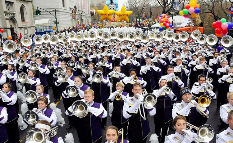 The 535-member Pride of the Mountains Marching Band from Western Carolina University is one of only two collegiate bands invited to participate in Macy's Thanksgiving Day Parade. It will be the band's second appearance in the parade in five years.