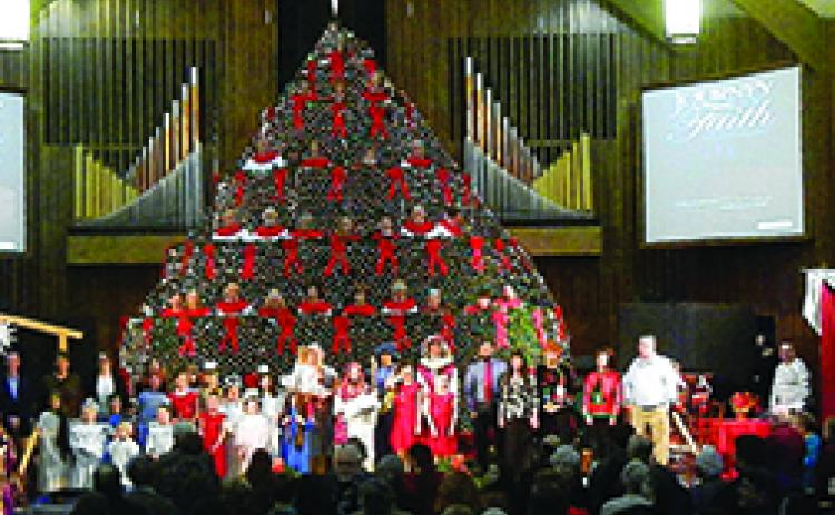 The Singing Christmas Tree will present its 43rd consecutive annual production this  year with three performances scheduled for Saturday, Sunday and Monday, Dec. 14-16, at Murphy First Baptist Church.