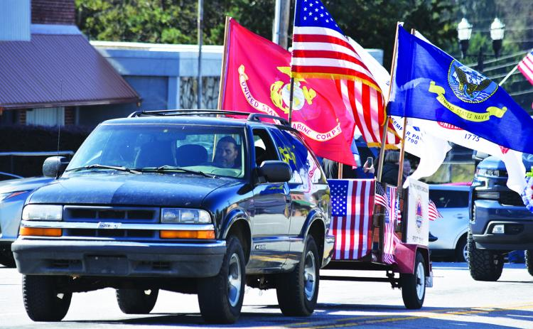 The Veterans Day parade that winded through downtown Murphy in November featured floats for local veterans service organizations, like the AMVETS.