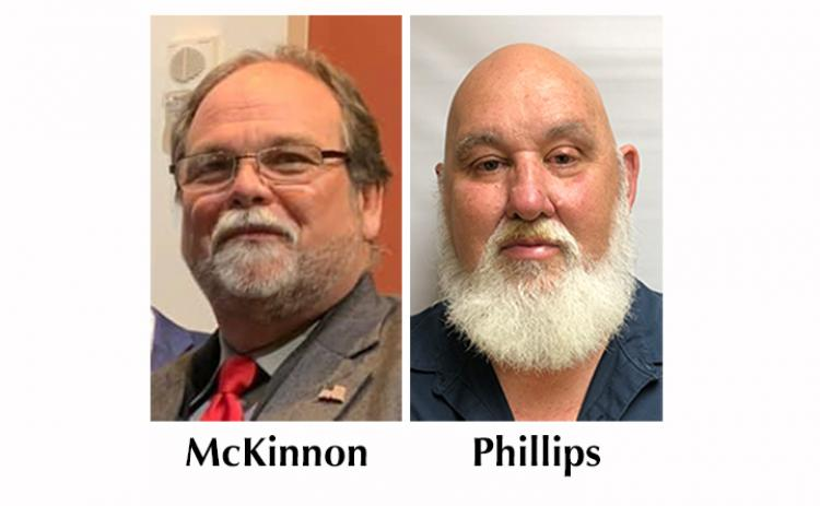 CB McKinnon and Randy Phillips seek the Cherokee County Board of Commissioners District 2 seat.