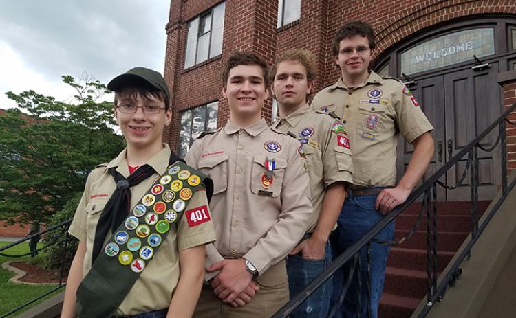 The McCray boys – Elijah, Larry, Gilbert and Billy – of Andrews have made their parents and Scouting family proud. The three oldest are Eagle Scouts, while the youngest, Elijah, is well on his way to the highest rank in Boy Scouts of America. Photo by Samantha Sinclair