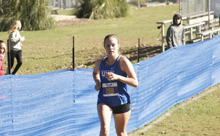 Tri-County Early College standout Sydney Bolyard finished in fourth place and was the top finisher for the UNG Nighthawks at the Peach Belt XC Preview.