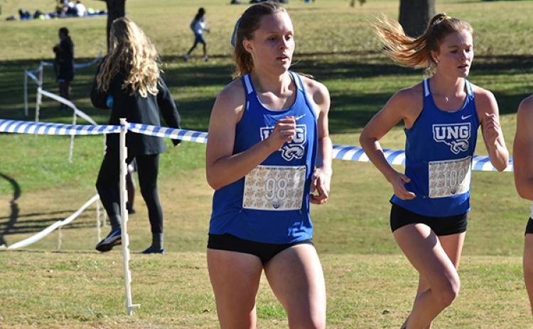 University of North Georgia freshman Sydney Bolyard, alumna of Tri-County Early College,  finished in seventh place at the Peace Belt XC Championships in Gainesville, Ga. on Saturday.